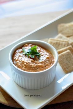 Easy dip made with eggplant, tomatoes and Greek Yogurt! www.lemonsforlulu.com