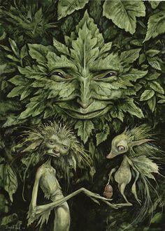 Cernunos/Ce.rn.un.os - Herne=Hernes=Her.n.es  Green Man=Lug En Cer Arth  Cernunos=Ce.rn.un.os=Herne, Hernes, Green Man, elf