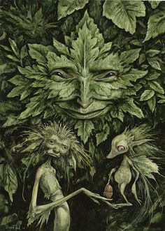 "The Greenman,Cernunnos/Herne the Hunter....By Artist and Author Brian Froud's ""Green Man""..."