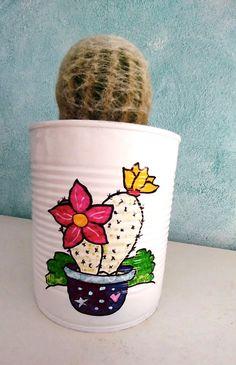 Flower Planters, Flower Pots, Flowers, Cactus Clipart, Tin Can Art, Painted Plant Pots, Barrels, Clay Pots, Potted Plants