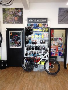 Changing room at our bike retail outlet