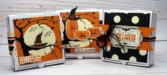 Stampin' Up! Spooky Nights Mini Pizza Boxes-Cardiology by Jari