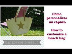 Cómo customizar un capazo /How to customize a beach bag - YouTube