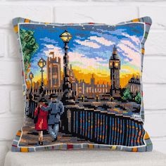 Набор для вышивания Panna ПД-1737 Подушка Небо Лондона