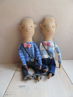 Good hairless boy Stuffed toy Boys gift Baby by KukloFerma