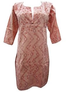 Piggy Pink Boho Embroidered Long Kurti Tunics Cotton Kurta Tops Xs Mogul Interior http://www.amazon.com/dp/B00O2Y4YUC/ref=cm_sw_r_pi_dp_PO.kub0W5KNKZ