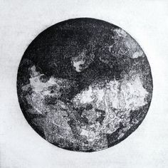 Howling etching handmade print printmaking by ChrisLevisPaper Moon Texture, Pseudo Science, Astronomy, Printmaking, Monochrome, Unique Jewelry, Handmade Gifts, Scotland, Landscapes