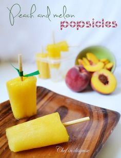 peach and melon pops