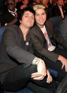 Billie Joe Armstrong and his son Joey Armstrong