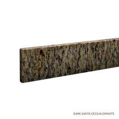 """25"""" Granite Vanity Backsplash - Dark Santa Cecilia"""