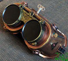 e0568bbe5 Steampunk Goggles Glasses Cyber post Apocalypse mad professor Gear wheels  watch. Steampunkové OkuliareApocalypse Survival