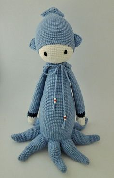 Lalylala Oleg the Octopus Handmade Crochet by ElaMakrelaCrochet