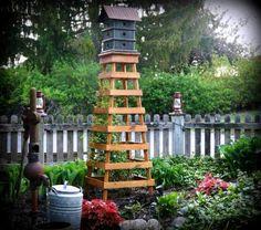 Annie's terrific tall trellis | Flea Market Gardening