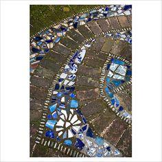 Detail of mosaic tiles.