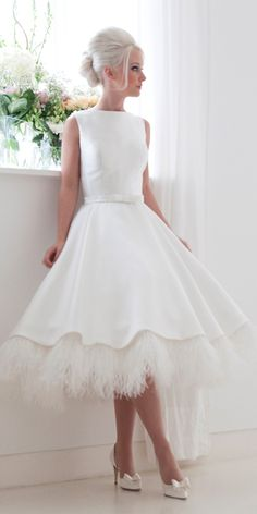 tea length wedding gowns 16 More