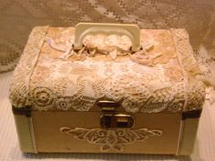 Lace Covered Lace Case / Adornments by Lisa