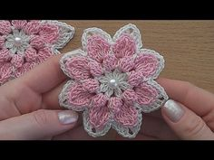 Crochet flower tutorial  VERY EASY. Crochet, Tutorial, Flower, Crochê, Easy, Tuto,