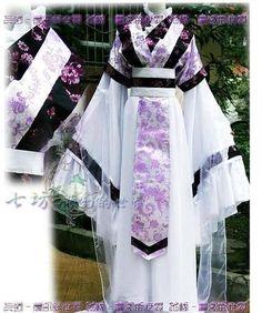 China Hanfu Purple Dress Cosplay Costume Purple Kimono | eBay