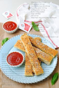 Copy Cat Recipe ~ Pizza Hut Style BreadSticks with Dipping Sauce
