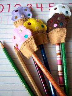 cupcake pencil topper