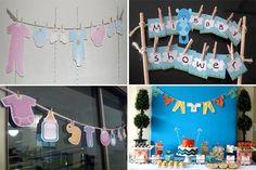 decoracion para baby shower con tendederos