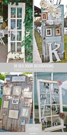 30 Fabulous Rustic Old Door Wedding Decoration Ideas ❤ Fresh air, smell of wood…
