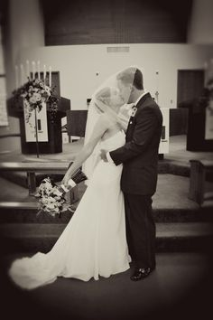Photos like this where the Bride and Groom are both under the veil always turn out adorable.
