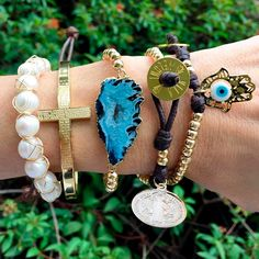 Vila Veloni Jewelry Store - Set By Vila Veloni Cross And Blue Agate Stone Bracelets , $219.00 (http://www.vilaveloni.com/set/set-by-vila-veloni-cross-and-blue-agate-stone-bracelets/)