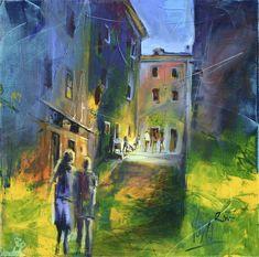 Night Street, 80X80cm / 31,5X31,5 inch, Acrylic on Canvas