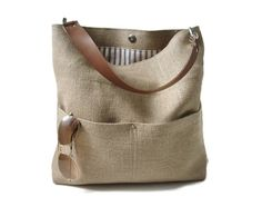 Bolsa de yute cubo bolso playa bolso Casual bolso de