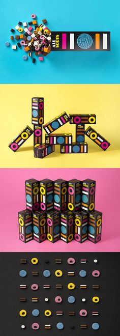 Allsorts, Package Design / Design by Bond Creative Agency, Helsinki, Finland / Photography by Irina Hurme/Studio Piquant