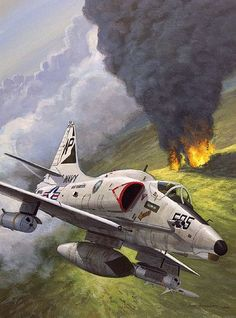23 Incredible Aviation Art Photography - vintagetopiaYou can find Aviation art and more on our Incredible Aviation Art Photography - vintagetopia Military Jets, Military Aircraft, Fighter Aircraft, Fighter Jets, Aircraft Painting, Airplane Art, Navy Aircraft, Aviation Art, Vietnam War