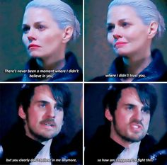 """You clearly don't believe in me anymore, so how am I supposed to fight this?"" - Dark Hook and Dark Swan #OnceUponATime"