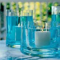 más y más manualidades: Bellos centros de mesa con agua coloreada