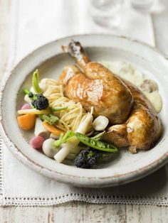 French pot-roast chicken with mustard