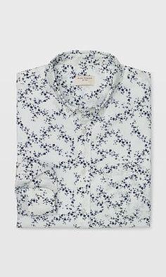 Mens | Slim Origami Floral Shirt | Club Monaco