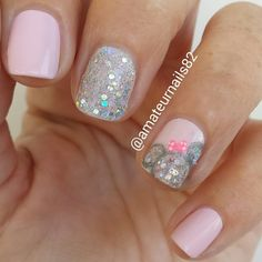 minnie mouse nail design, unas decoradas con minnie Mouse