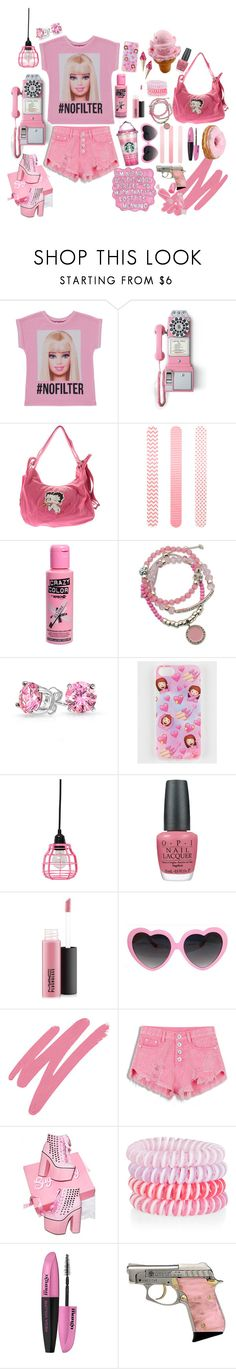 """""""Untitled #334"""" by twistedvine ❤ liked on Polyvore featuring George, Crosley Radio & Furniture, Betty Boop Signature Product, Accessorize, GUESS, Bling Jewelry, OPI, MAC Cosmetics, NARS Cosmetics and L'Oréal Paris"""