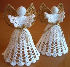 Best 12 crochet angel christmas ornaments diy–we have some like this that my great-grandmother made! I would love to add some – SkillOfKing. Crochet Christmas Decorations, Crochet Ornaments, Christmas Crochet Patterns, Holiday Crochet, Crochet Snowflakes, Angel Ornaments, Christmas Crafts, Crochet Angel Pattern, Crochet Angels