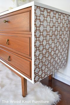 Mid Century White Dresser Annie Sloan by TheWoodKnotFurniture