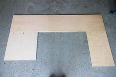 Plywood Desk, Highland Woodworking, Plank Ceiling, Modern Platform Bed, Cedar Planks, Custom Desk, Vanity Desk, Desk Areas, Built In Desk