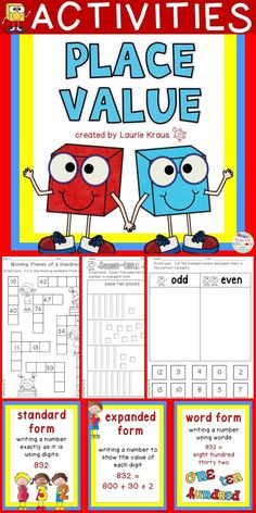 Place value posters and activity sheets will help your students understand the value of whole numbers.