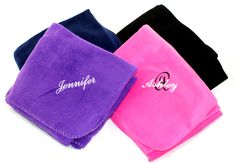 Memento - Personalized Monogrammed Gifts - Personalized Fleece Blanket with Fancy Layered Name, $28.00 (http://www.shopmemento.com/personalized-fleece-blanket-with-fancy-layered-name/)