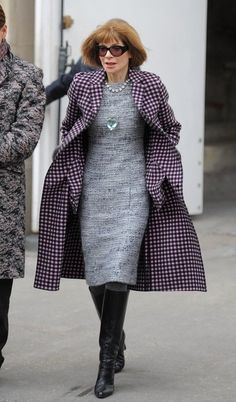 Anna Wintour Photos: Arrivals at the Chanel Runway Show