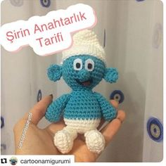 with Daha önce büyük Şirin t Crochet Dinosaur Patterns, Crochet Patterns, Knitted Poncho, Knitted Shawls, Knit Shoes, Knitting Socks, Tweety, Hand Embroidery, Smurfs