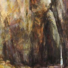 Sarah Adams, Nanjizal, summer, oil on linen, 100 x 100 cm
