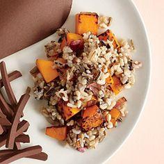 Wild Rice with Squash Recipe | Cooking Light #myplate #wholegrain #veggies