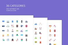 The Flat Icons 2000 by The Store on @creativemarket