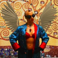 Too excited not to share: new concept image for Jei Olson: Chemo Queen - that girl's got wings!    The superhero I imagine myself as is a brainy inventor/tinkerer, hot-air balloon traveling circus artist with just a touch of magic that pops up when I'm excited about something.    If I laugh hard enough, I can float. Time stands still for me when I'm on the move, and I can build something out of nothing.    www.superheroportraits.com    www.superheroportraits.com — with Jei Olson.