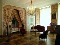 room of the govener - inside of Chateau Chambord